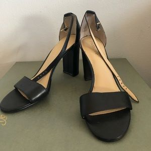 Ivanka Trump black heeled sandals